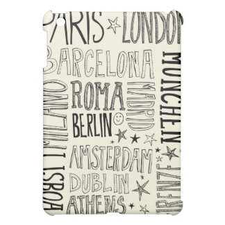 Cities of Europe Chic Modern Typography City Gifts iPad Mini Case