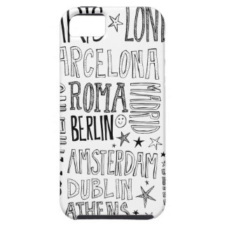 Cities of Europe Chic Modern Typography City Gifts iPhone 5 Cases