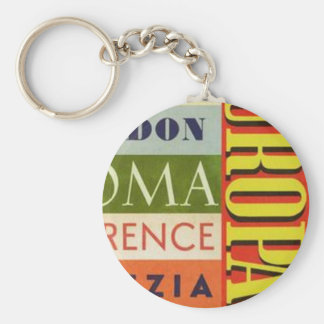 Cities of Europe Keychain