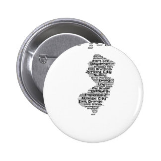 Cities of New Jersey 2 Inch Round Button