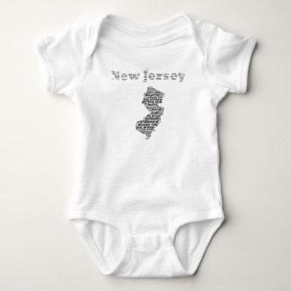 Cities of New Jersey Baby Bodysuit