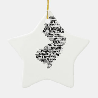 Cities of New Jersey Ceramic Star Ornament