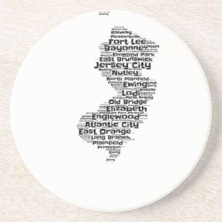 Cities of New Jersey Drink Coaster