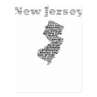 Cities of New Jersey Postcard