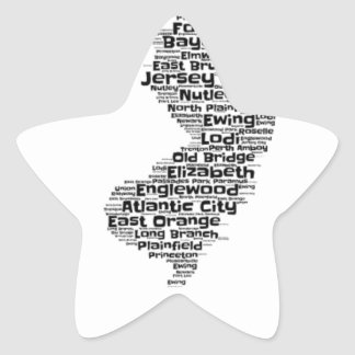 Cities of New Jersey Star Sticker