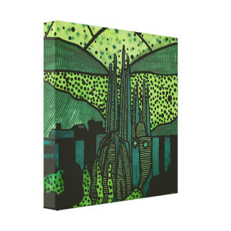 Cities of the World - Barcelona Canvas Print