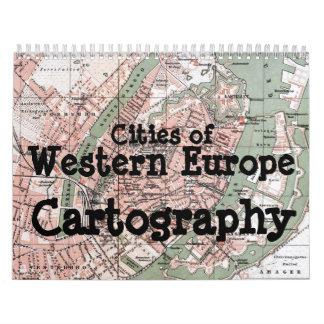 Cities of Western Europe Cartography Calendar
