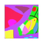 Cities Road Waterway Eccentric Calmness Blessing Gallery Wrapped Canvas