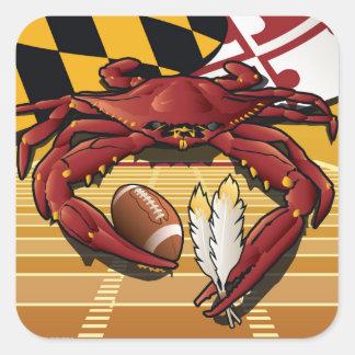 Citizen Crab Redskin,Washington Redskins football Square Sticker