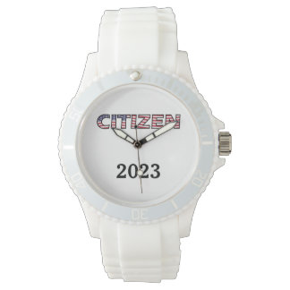 Citizen Flag Text with Year Wrist Watch
