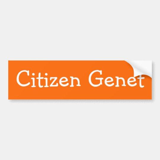Citizen Genet Bumper Sticker
