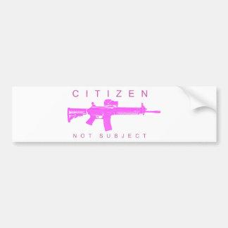 Citizen Not Subject - Female Bumper Sticker