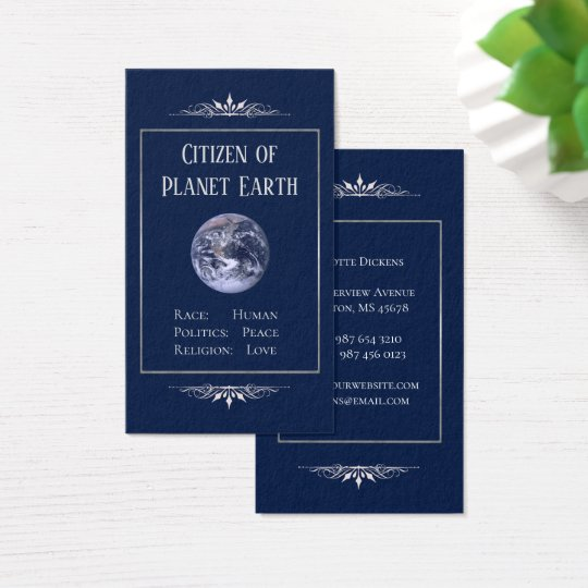 Citizen of Planet Earth Business Card