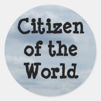 """Citizen of the World"" Sticker"