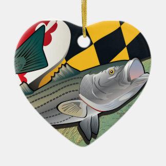 Citizen Rockfish of Maryland Ceramic Ornament