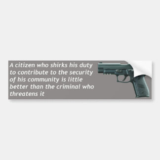Citizen Security Bumper Sticker