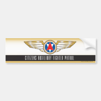 Citizens Auxiliary Fighter Patrol Bumper Sticker