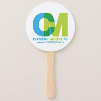Citizens' Media TV Logo Hand Fan