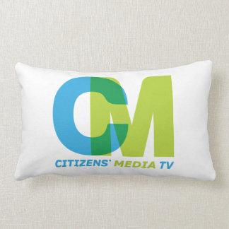 Citizens' Media TV Logo Lumbar Pillow