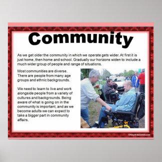 Citizenship, Lifeskills, Community Poster