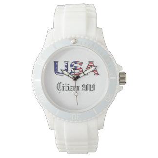 Citizenship Year USA Stars and Stripes Watch