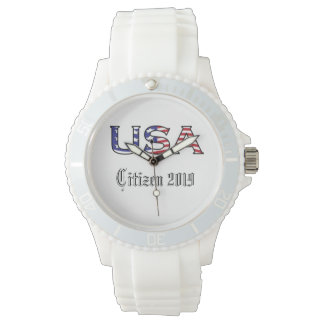 Citizenship Year USA Stars and Stripes Wrist Watches