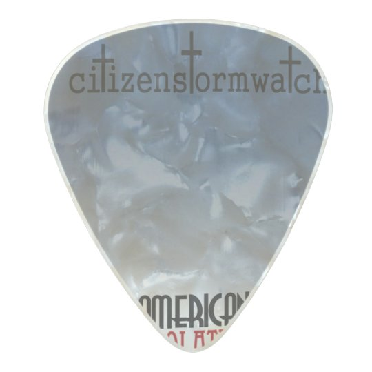 """citizenstormwatch """"American Idolatry"""" album cover Pearl Celluloid Guitar Pick"""
