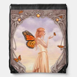Citrine Birthstone Fairy Drawstring Backpack