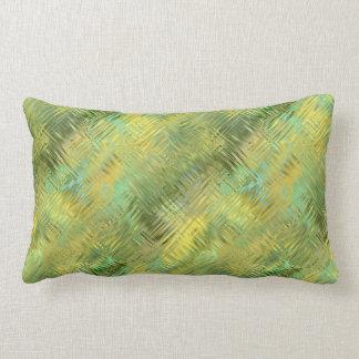 Citrine Yellow Glassy Texture Lumbar Pillow