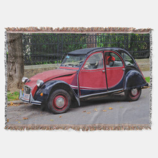 Citroen 2 CV Charleston Throw Blanket