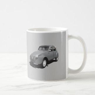 Citroën 2CV - gray - logo - diy mug -