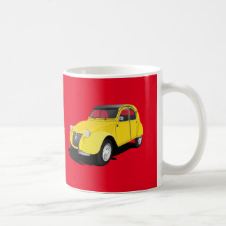 Citroën 2CV yellow - diy mug