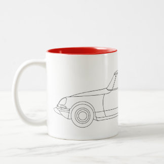 Citroen DS Break illustration Two-Tone Coffee Mug