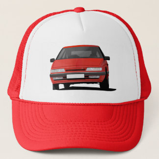 Citroën XM in red in a trucker hat
