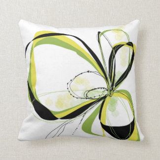 Citron Bloom pillow
