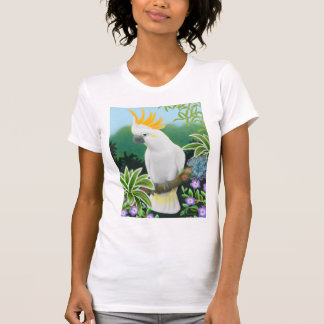 Citron Cockatoo Ladies Scoop Neck T-Shirt