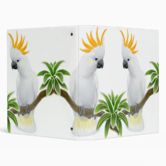 Citron Crested Cockatoos Avery Binder