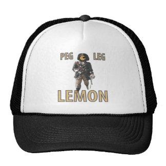 """Citron de """"jambe de cheville"""" de pirate casquette de camionneur"""