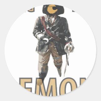 """Citron de """"jambe de cheville"""" de pirate sticker rond"""