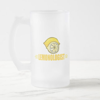 Citron drôle frosted glass beer mug