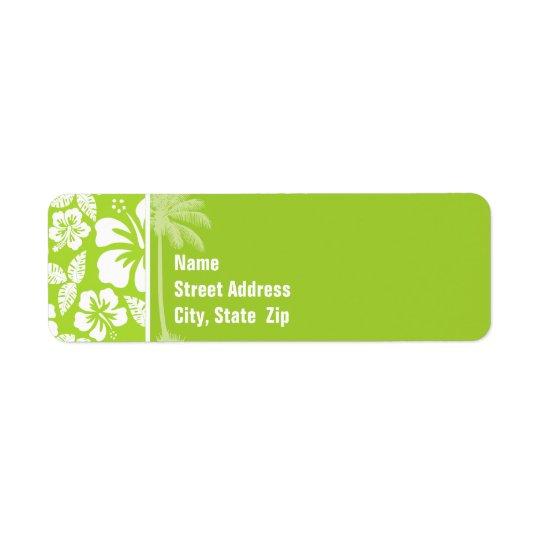 Citron Green Tropical Hibiscus; Summer Palm