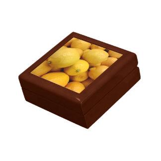 Citrons jaunes boîte à bijoux