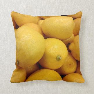 Citrons jaunes coussin