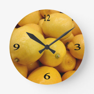 Citrons jaunes horloges
