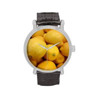 Citrons jaunes montres bracelet