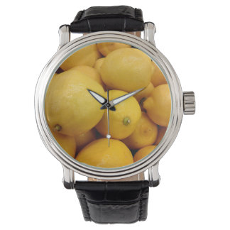 Citrons jaunes montres