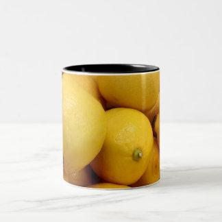 Citrons jaunes mug à café