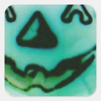 citrouille de fantôme sticker carré