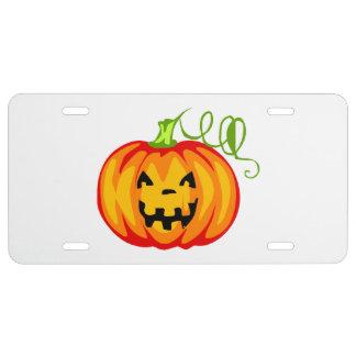 Citrouille de Halloween Plaque D'immatriculation