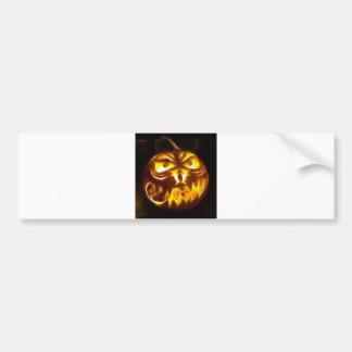 Citrouille de Halloween sur des flammes Autocollant De Voiture